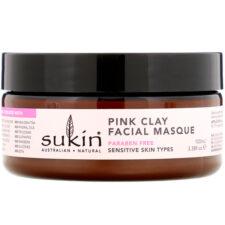 Очищающая Маска для лица с розовой глиной, для чувствительной кожи, 100 мл
